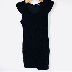Express Black Lace Cap Sleeve Dress Sz 0